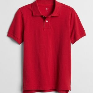 Red Short Sleeve Polo for Kids from Gap